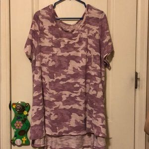 Lane Bryant Camo Top